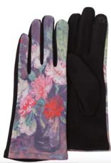 Gloves - Black/Van Gogh Carnations