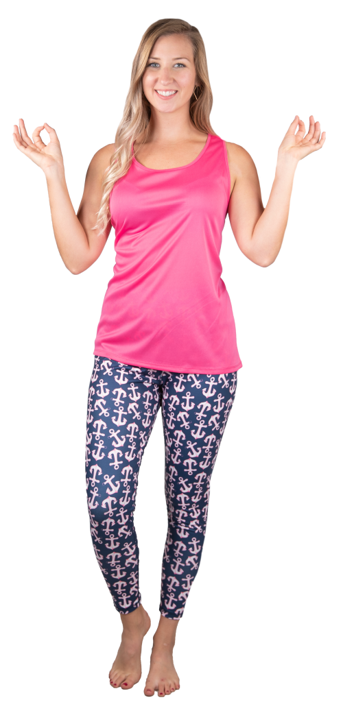 Simply Southern Dark Pink Lightweight Sleeveless Yoga Tank