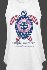 Simply Southern SS Usa Turtle Tank Top