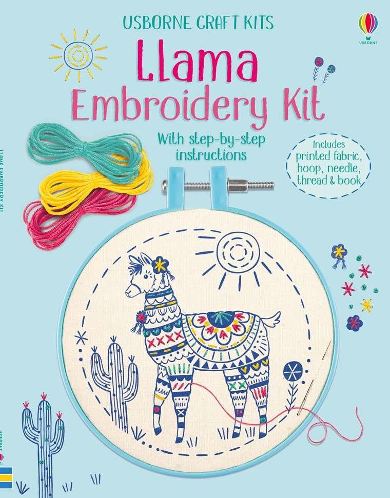 Llama Embroidery Kit IR