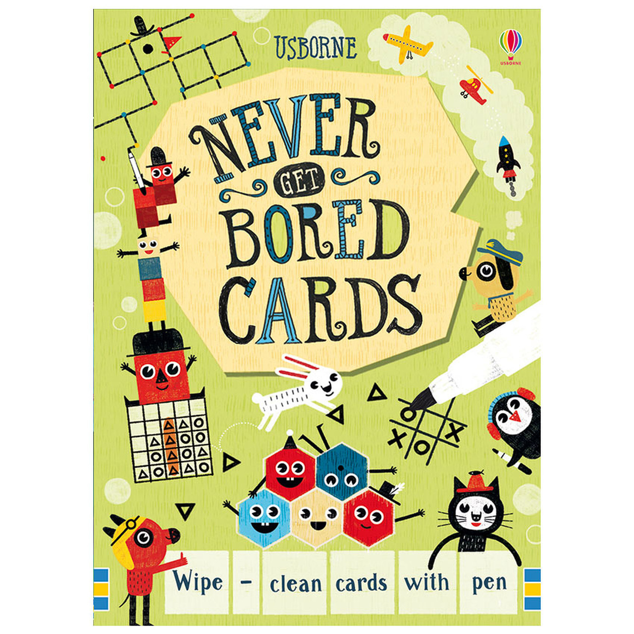 Wipe-Clean Never Get Bored Cards