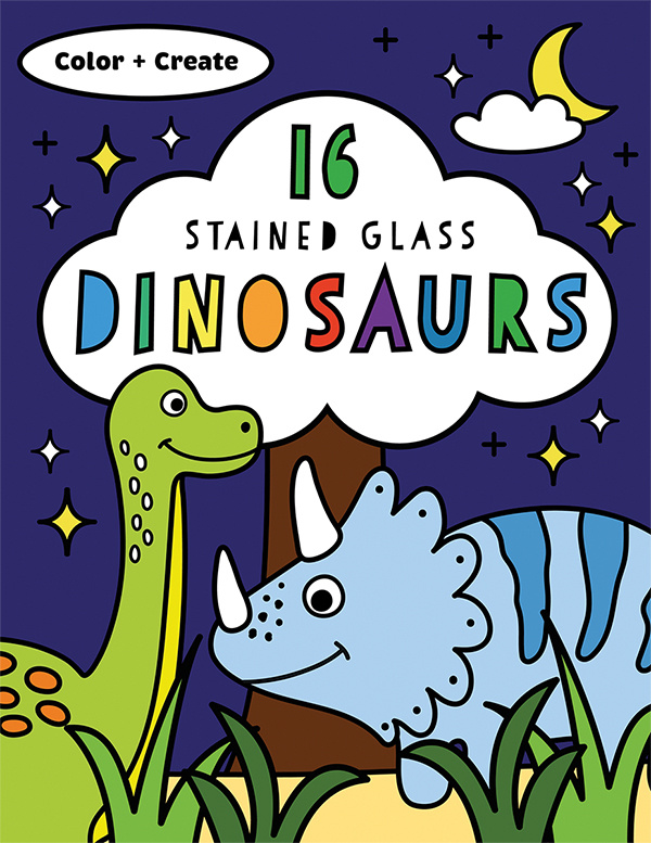 Stained Glass Dinosaurs