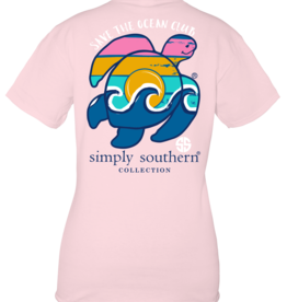 Simply Southern SS Lulu Pink with Turtle