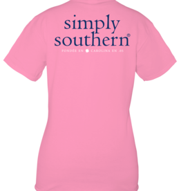 Simply Southern SS Basic Logo Flamingo