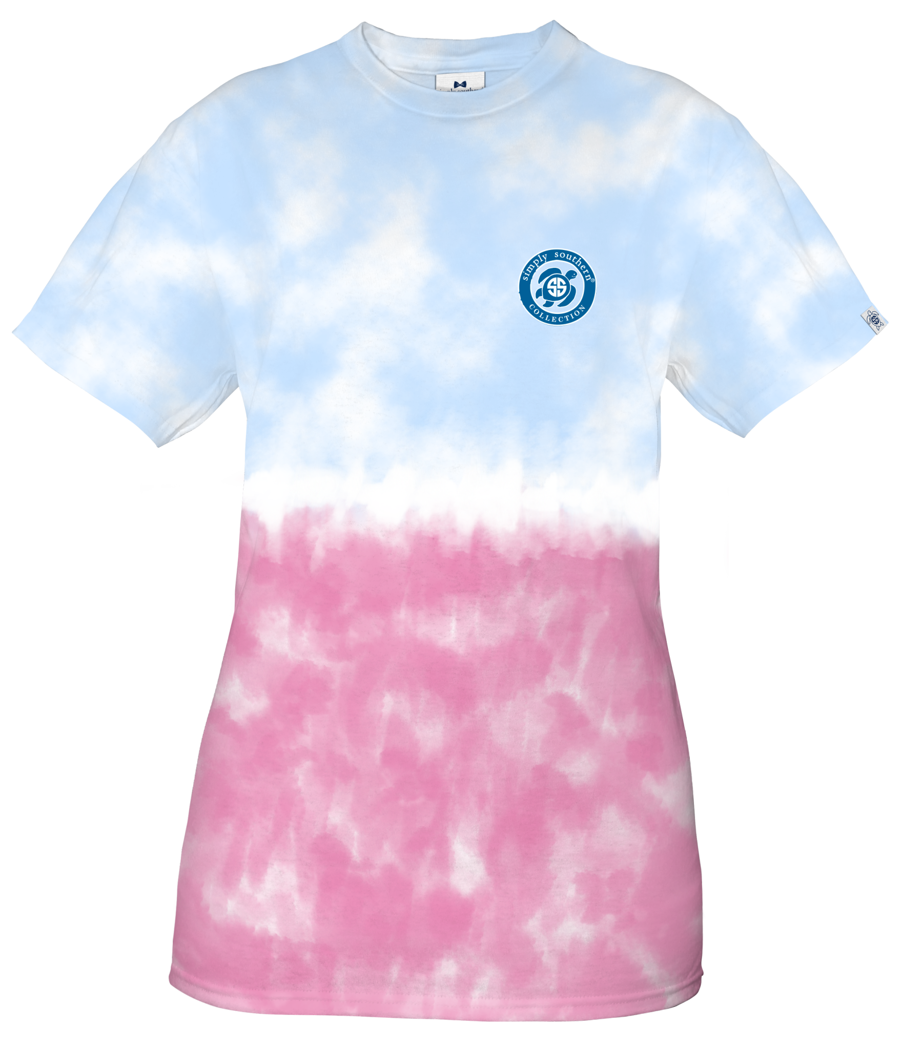 Simply Southern Simply Southern Tiedye Blue and  Pink Turtle YOUTH