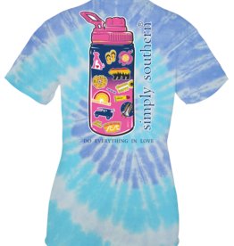 Simply Southern Simply Southern Tiedye Blue Waterbottle