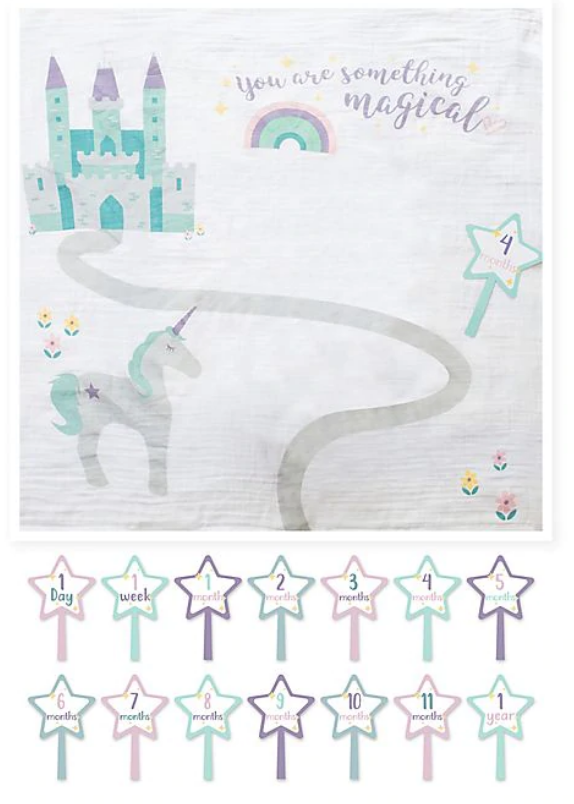 Baby's First Year blanket/cards -Something Magical