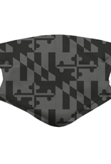 Greyscale Maryland Flag / Face Mask