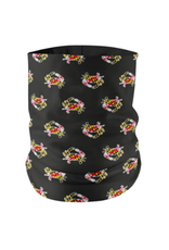 Maryland Flag Crab Pattern (Black) / Neck Gaiter