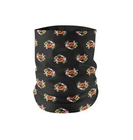 Maryland Flag Crab Pattern (Black) / Neck Gaiter