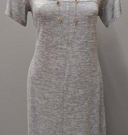 LINKS SS Tamara Novelty Dress - Grey Marl