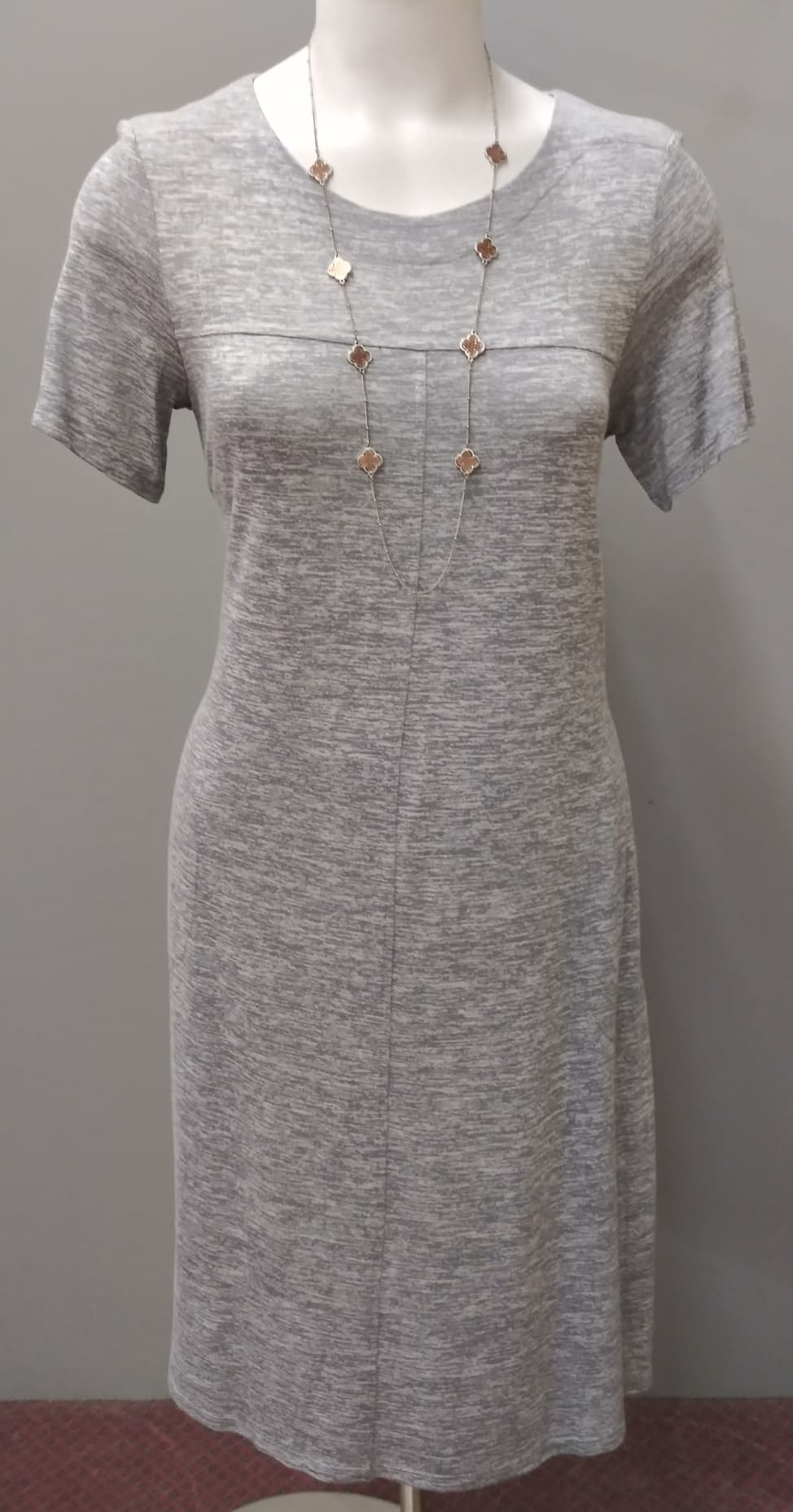 SS Tamara Novelty Dress - Grey Marl