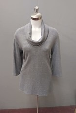 3/4 Sleeve Devie Cowl Neck Top