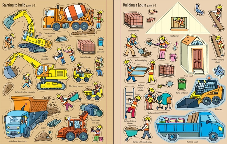 Building Sites - First Sticker Book