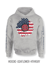Simply Southern SS Usa Flower Hoodie