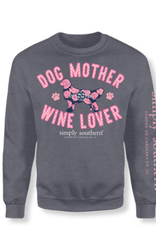 Simply Southern SS Dog Mother Wine Lover Sweatshirt