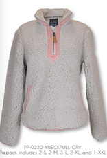 Simply Southern SS Grey and Pink Pull Over