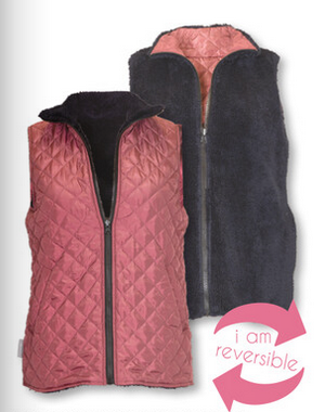 Simply Southern SS Maroon Reversible Vest