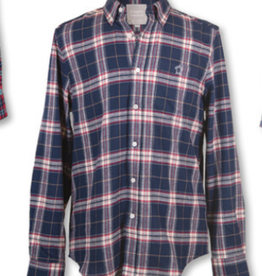 Simply Southern Navy Parker Plaid Shirt