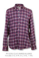 Simply Southern Blue/Red Parker Plaid Shirt