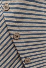Grey Heather/Blue Long Sleeve Textured Top