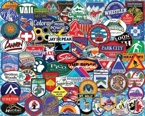 White Mountain Puzzle Ski Badges
