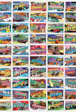 White Mountain Puzzle State Greetings Stamps