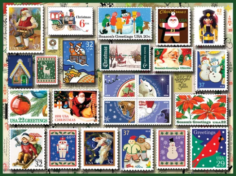 White Mountain Puzzle Holiday Stamps