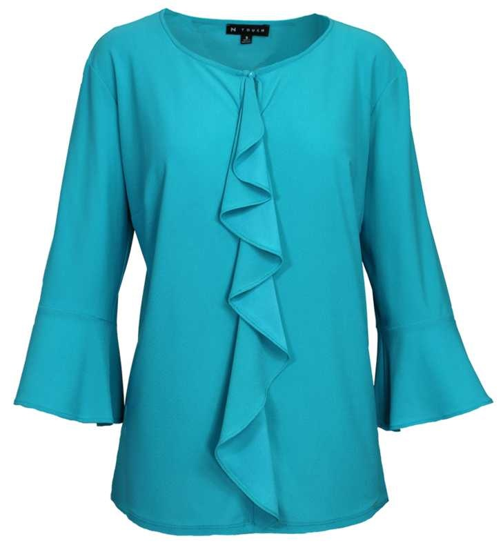 N TOUCH Turqish 3/4 Sleeve Jolianne Top