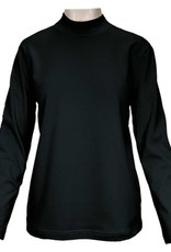 SOUTHERN LADY Black Long Sleeve Windsor Mock Neck Top