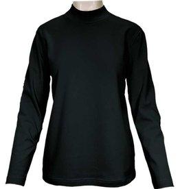 SOUTHERN LADY Black Long Sleeve Windsor Mock Neck Top