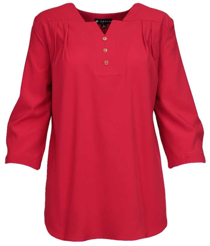 N TOUCH Lacquer 3/4 Sleeve Oliver Blouse