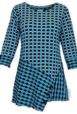 Navy/Blue 3/4 Sleeve Lylla Novelty Knit Top