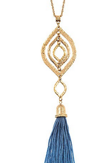 Andrea Bijoux Elongated Tassel Pendant Necklace Set