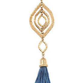 Andrea Bijoux Elongated Tassel Pendant Necklace Set