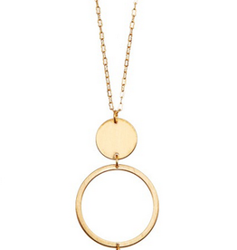 Andrea Bijoux Gemstone Pendant Long Necklace
