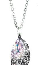 Andrea Bijoux Purple Tone Leaf Pendant Necklace Set