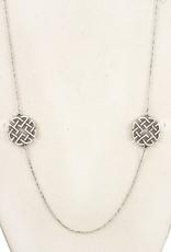 Andrea Bijoux Cut Out Pendant Long Necklace Set