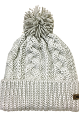 Broner Hats Shimmer Yarn Cable Knit Cuff Cap