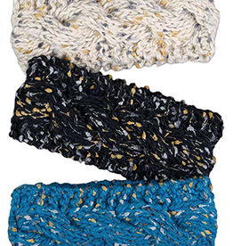 Broner Hats Speckled Knit Earband, Reflective Yarn