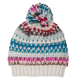 Broner Hats Ladies Hand Knit Multi-Colored Beanie