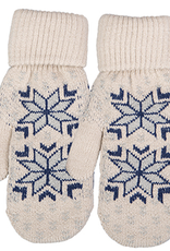 Broner Hats Snowflake Pattern Knit Mitten, Oatmeal