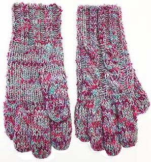 Broner Hats Ladies Charcoal Funfetti Knit Glove