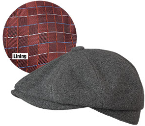 Broner Hats 72-023, O'Malley Cap, Charcoal
