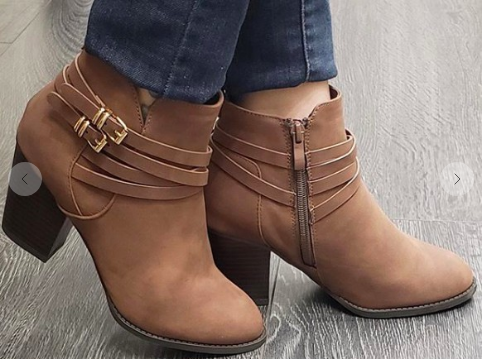 Kay Kay Fashion Buckled Bootie