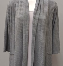 LINKS Grey Heather Long Sleeve Sweater