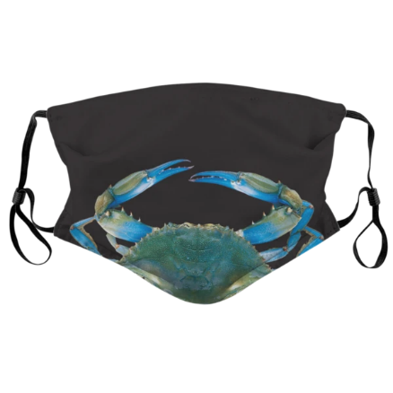 Realistic Blue Crab Face Mask
