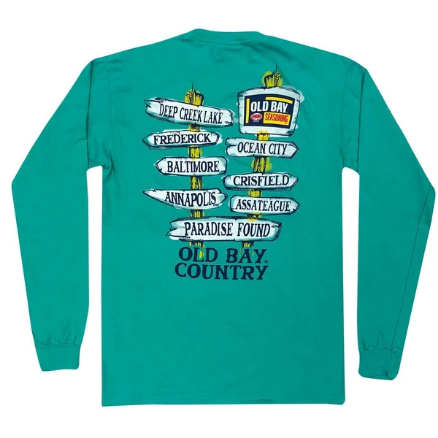 Old Bay Direction Sign / Long Sleeve Shirt