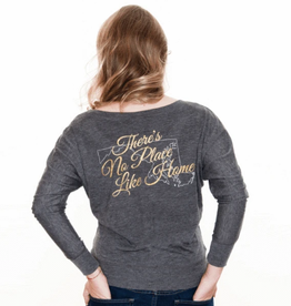 There's No Place Like Home / Ladies Long Sleeve Shirt