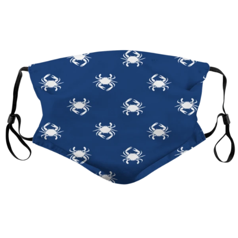 Blue Crab Pattern / Face Mask